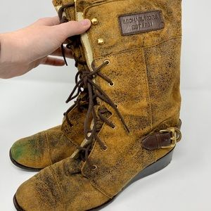 RARE Michael Kors tortoise boots